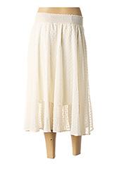 Jupe mi-longue blanc SCHOOL RAG pour femme seconde vue