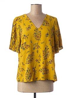 Blouse manches courtes jaune ONLY pour femme