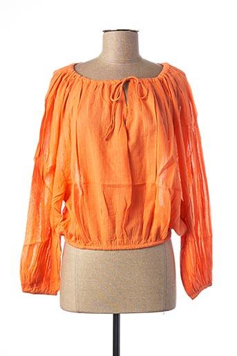 Blouse manches longues orange SCHOOL RAG pour femme