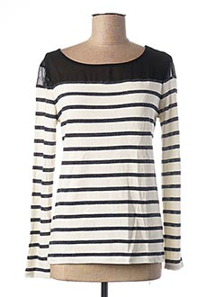 Pull col rond beige I.CODE (By IKKS) pour femme