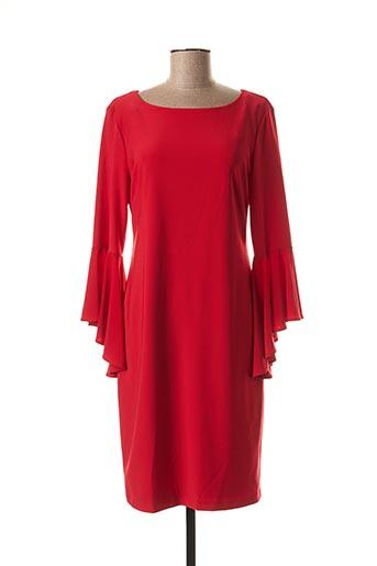 Robe mi-longue rouge FRANK LYMAN pour femme