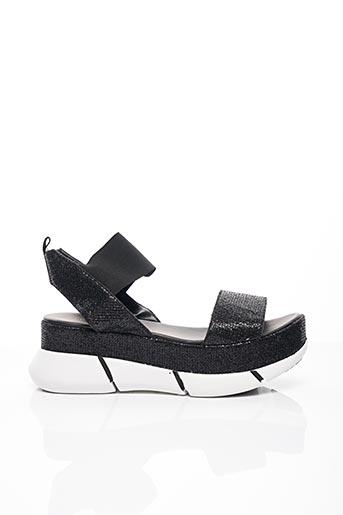 Sandales/Nu pieds noir ELENA LACHI pour femme