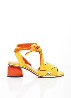 Sandales/Nu pieds jaune HALMANERA pour femme