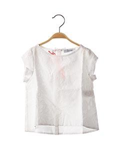 Blouse manches courtes blanc MARESE pour fille