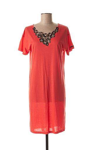Robe mi-longue orange COP COPINE pour femme