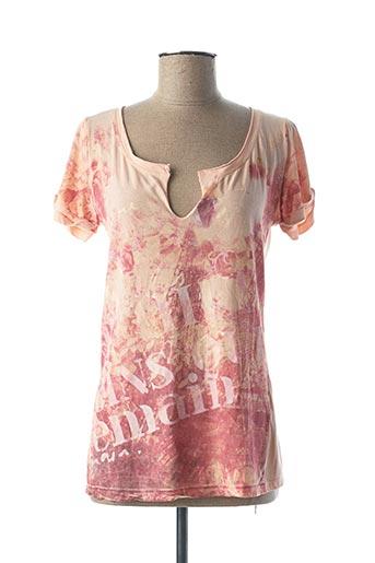 T-shirt manches courtes rose DEHA pour femme