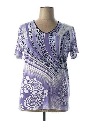 T-shirt manches courtes violet CPM pour femme