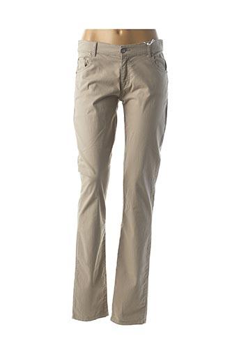 Pantalon casual beige BISCOTE pour femme