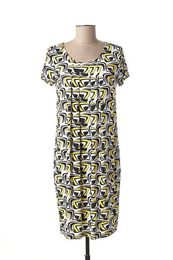 Robe mi-longue jaune ELEONORA AMADEI pour femme