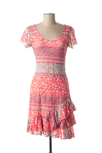 Robe mi-longue rose SALAMANDRE pour femme