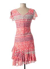 Robe mi-longue rose SALAMANDRE pour femme seconde vue