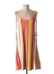 Robe mi-longue rose TRICOT CHIC pour femme seconde vue