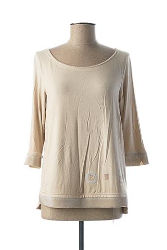 T-shirt manches longues beige ELISA CAVALETTI pour femme