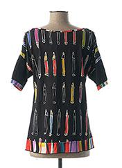 T-shirt manches courtes noir OLIVIER PHILIPS pour femme seconde vue