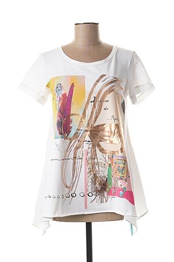 T-shirt manches courtes blanc DANIELA DALLAVALLE pour femme