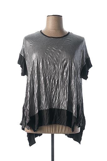 T-shirt manches courtes gris ALEMBIKA pour femme