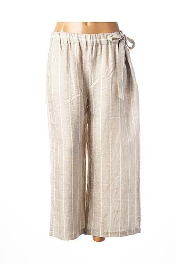Pantalon casual beige ELEONORA AMADEI pour femme