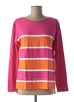 Pull col rond rose FABER pour femme