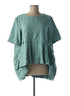Blouse manches courtes vert GERSHON BRAM pour femme