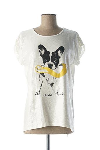 T-shirt manches courtes beige ELEONORA AMADEI pour femme