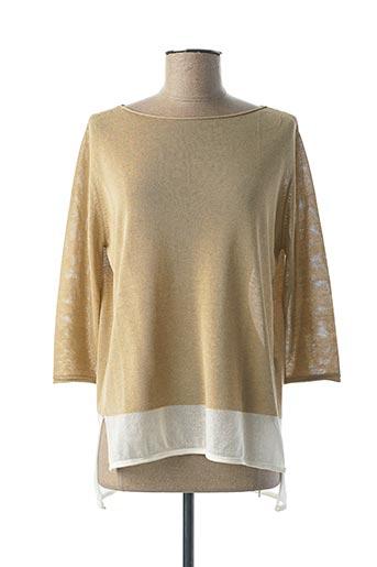 Pull tunique beige CALATURA pour femme