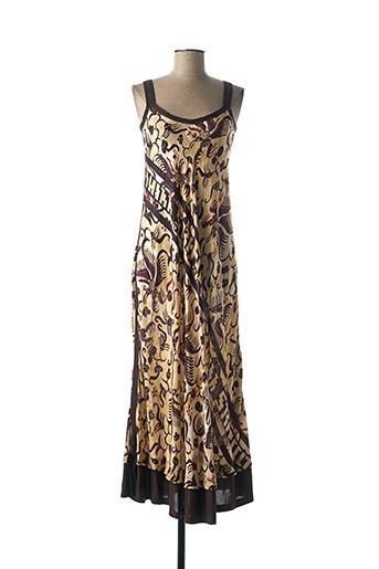 Robe longue marron BEATE HEYMANN pour femme