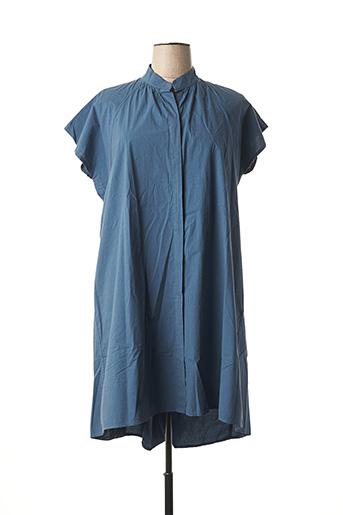 Robe mi-longue bleu B.YU pour femme