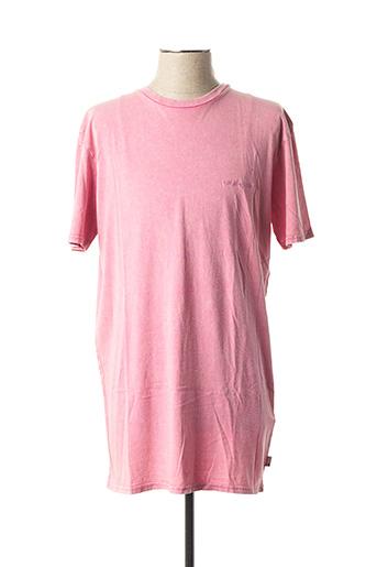 T-shirt manches courtes rose QUIKSILVER pour homme