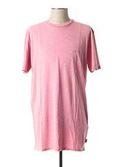 T-shirt manches courtes rose QUIKSILVER pour homme seconde vue