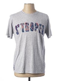 T-shirt manches courtes gris BOB pour homme