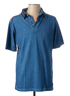 Polo manches courtes bleu BOB pour homme