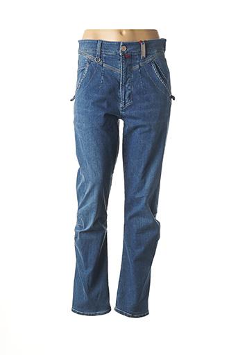 Jeans coupe droite bleu HIGH pour femme