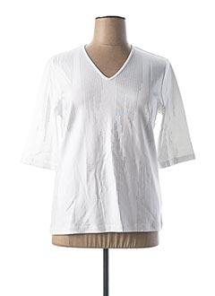T-shirt manches longues blanc MARBLE pour femme