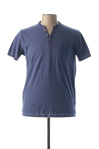 T-shirt manches courtes bleu DELAHAYE pour femme