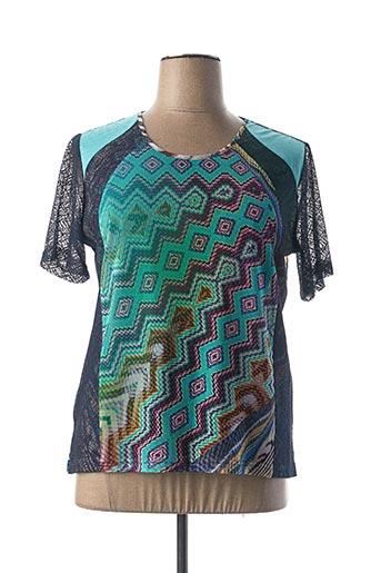 T-shirt manches courtes bleu JEAN GABRIEL pour femme