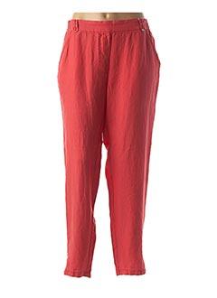 Pantalon 7/8 rouge EL INTERNATIONALE pour femme