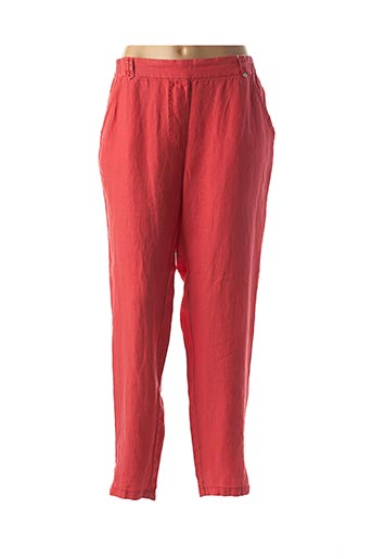 Pantalon 7/8 rouge EL INTERNATIONALE pour femme