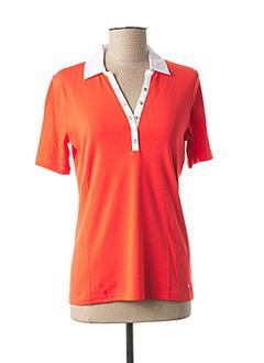 Polo manches courtes orange GERRY WEBER pour femme