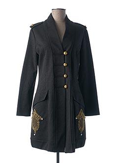 Manteau long gris BLEU BLANC ROUGE pour femme