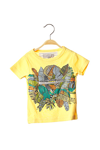 T-shirt manches courtes jaune MILK ON THE ROCKS pour garçon
