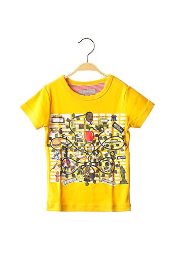 T-shirt manches courtes jaune MILK ON THE ROCKS pour enfant