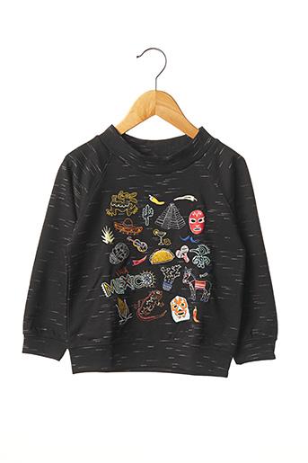 Sweat-shirt noir MILK ON THE ROCKS pour enfant