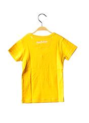 T-shirt manches courtes jaune MILK ON THE ROCKS pour enfant seconde vue