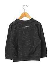 Sweat-shirt noir MILK ON THE ROCKS pour enfant seconde vue