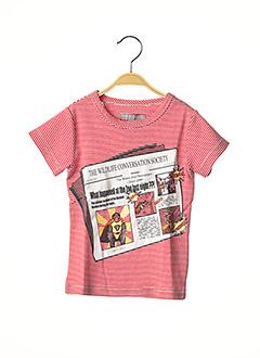 T-shirt manches courtes rouge MILK ON THE ROCKS pour garçon