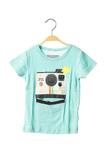 T-shirt manches courtes bleu MILK ON THE ROCKS pour enfant