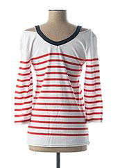 T-shirt manches longues rouge MADO ET LES AUTRES pour femme seconde vue