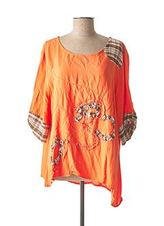 Blouse manches courtes orange C'FAIT POUR VOUS pour femme