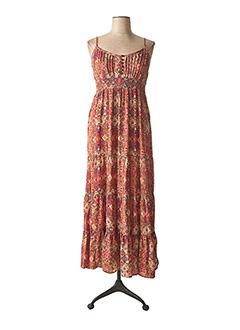 Robe longue rouge COLINE pour femme