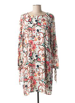 Robe mi-longue rose CHATELET pour femme